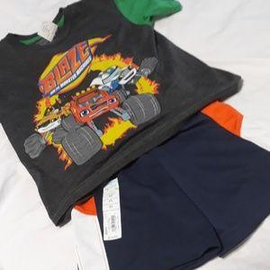 Jumping Bean short & Blaze shirt 2T NWT